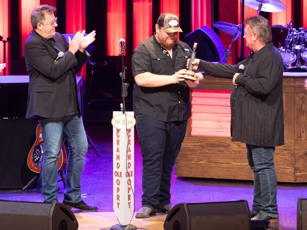 Watch Vince Gill & Joe Diffie Induct Luke Combs Into the Grand Ole Opry