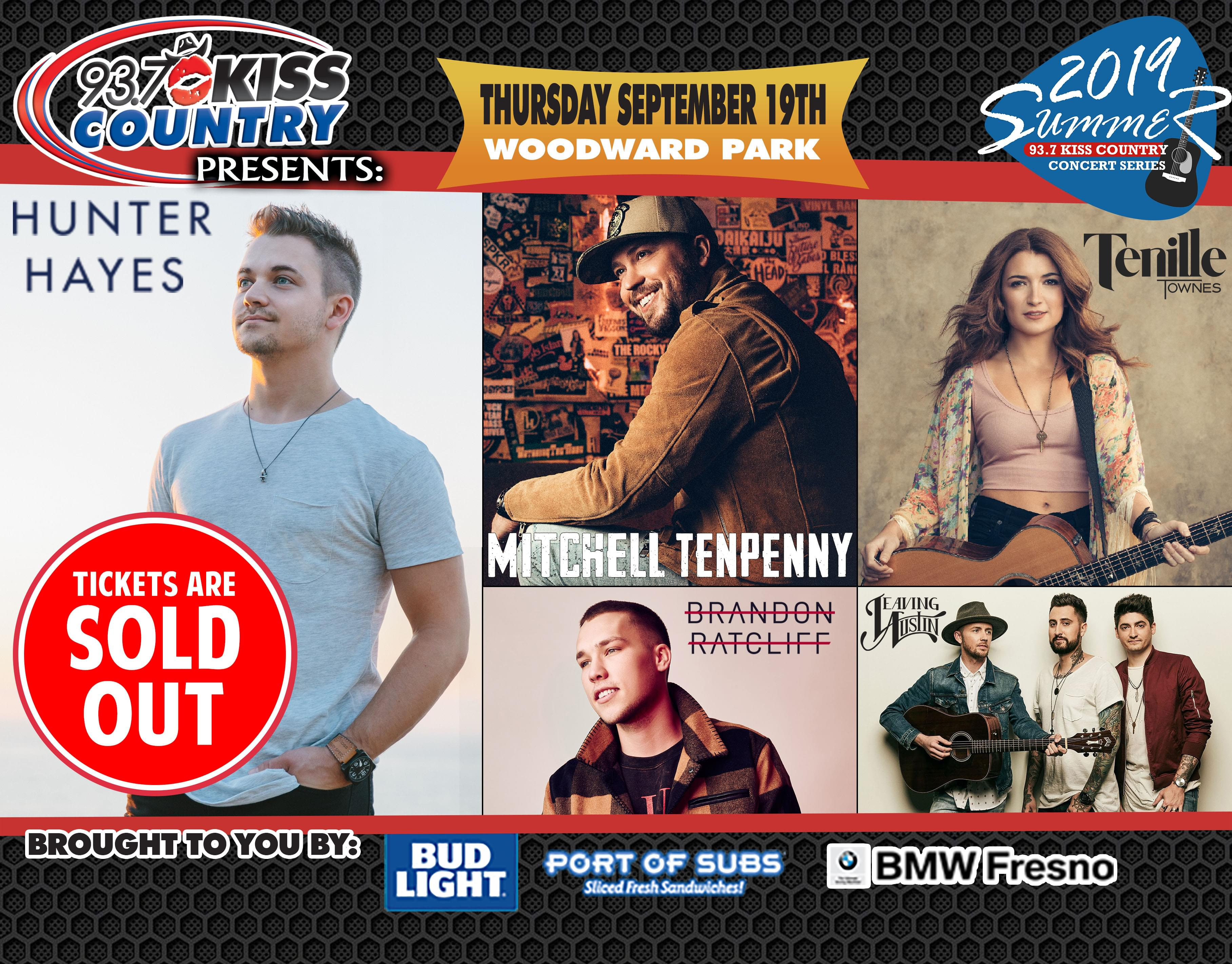 September 19:  SOLD OUT Fifth Kiss Country Summer Concert of 2019