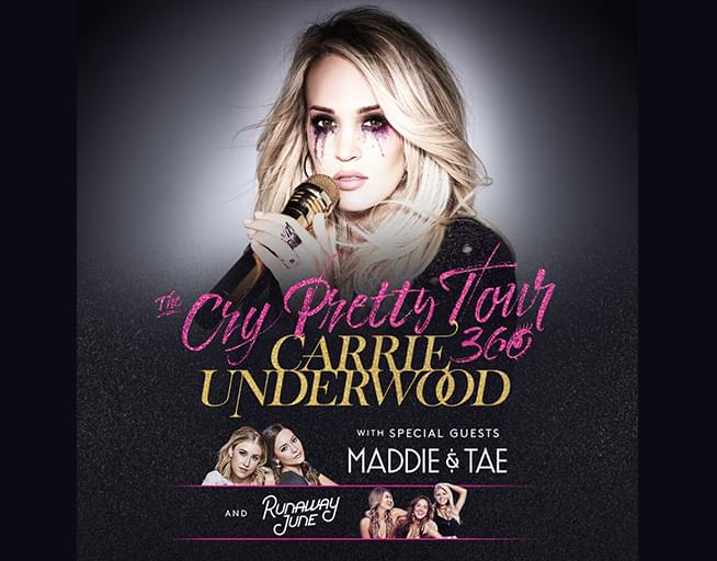 Win Your Tickets to Carrie Underwood!