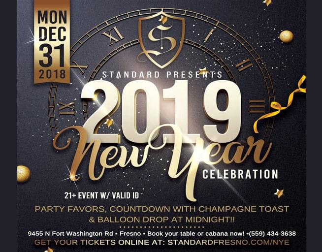 5 4 3 2 1 the countdown is on are you going to be there kick of 2019 right the standard presents the 2018 new years eve party on monday