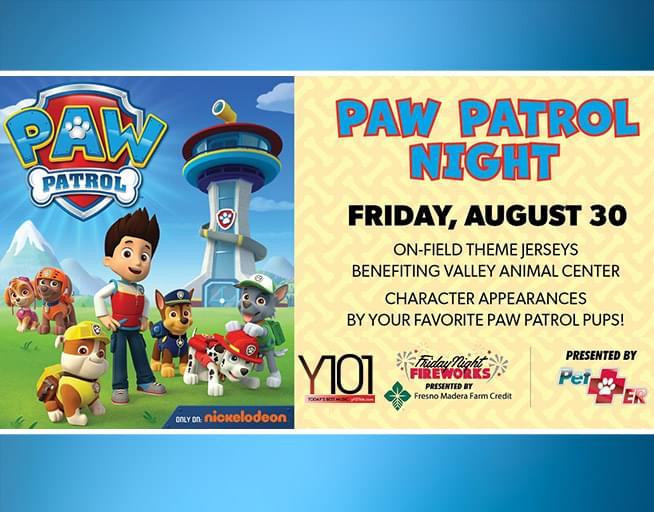 August 30: PAW Patrol Night at the Grizzlies!