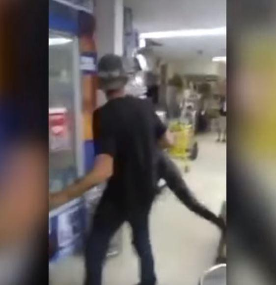 VIDEO: A Dude Blacked Out, Stole An Alligator, And Went To The Liquor Store.