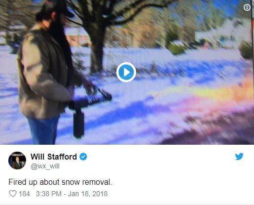 Guy Uses Flamethrower To Get Rid Of Snow