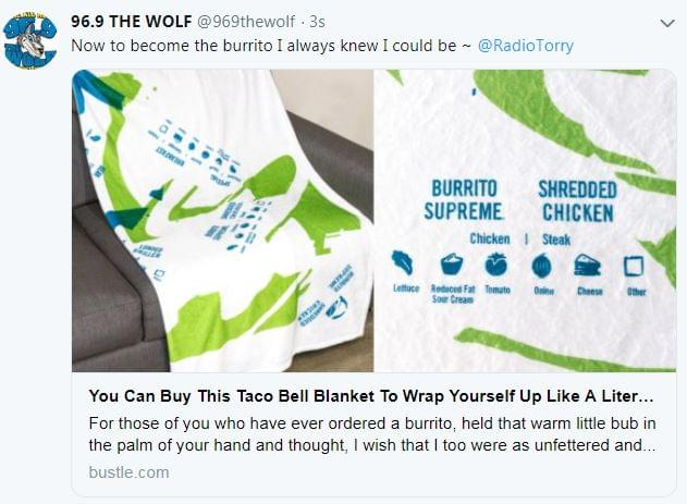 Taco Bell Is Selling A Burrito Blanket