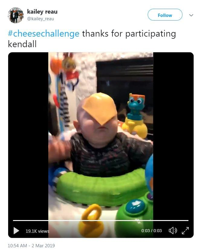 Cheese Challenge Is Throwing Slices Of Cheese On Your Baby's Face