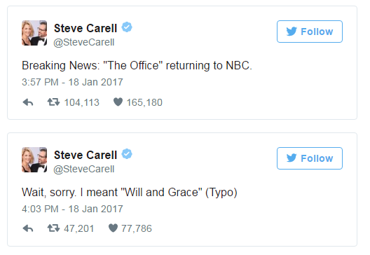 Steven Carell trolls his fans…and its awesome!