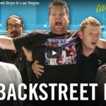James Corden takes over Backstreet Boys in Las Vegas