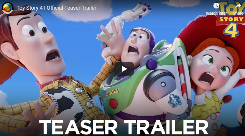 WATCH: Toy Story 4 Official Teaser Trailer
