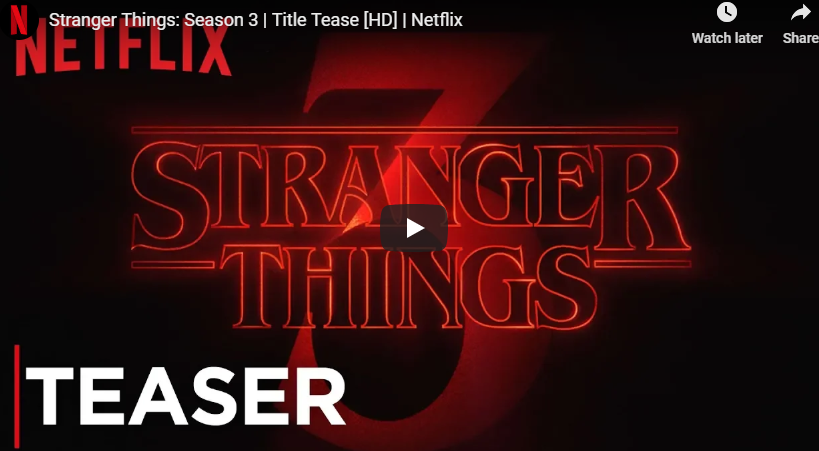 WATCH: Official Season 3 'Strangers Things'
