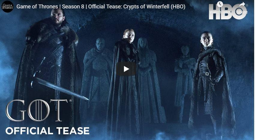 "WATCH: Final 'Game of Thrones "" Season Trailer is here."