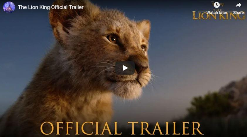 WATCH:The Lion King Official Trailer