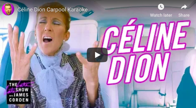 WATCH: Céline Dion Carpool Karaoke