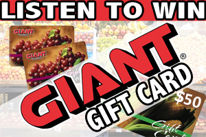 Listen to win a $50 Giant gift card!