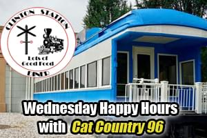 Join Cat Country 96 for Wednesday Happy Hours at Clinton Station Diner!