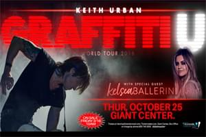 Cat Country 96 Welcomes Keith Urban to the Giant Center in Hershey