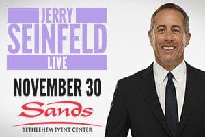 Cat Country 96 Welcomes Jerry Seinfeld to Sands Bethlehem Event Center