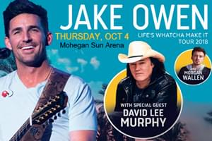 Cat Country 96 Welcomes Jake Owen to Mohegan Sun Arena
