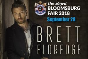 Cat Country 96 Welcomes Brett Eldredge to the Bloomsburg Fair