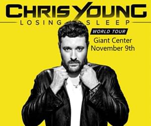 Chris Young with Dan+Shay at the Giant Center November 9