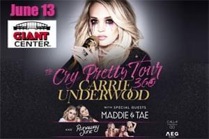 Carrie Underwood at the Giant Center on  June 13