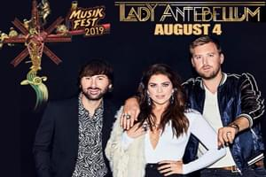 Lady Antebellum at Musikfest August 4th