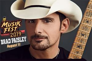 Brad Paisley at Musikfest on August 11th