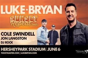Luke Bryan at Hersheypark Stadium June 6