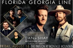 Florida Georgia Line at  The Pavilion at Montage Mountain August 16