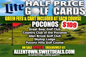 Miller Lite Half-Price Golf Cards