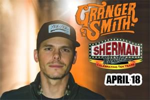 Granger Smith at the Sherman Theater April 18