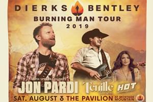 Dierks Bentley at The Pavilion at Montage Mountain August 3