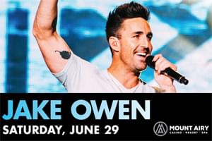 Jake Owen at Mount Airy  June 29