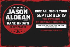 Jason Aldean at The Pavilion at Montage Mountain September 19