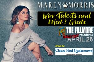 Win Tickets and Meet & Greets to the SOLD OUT Maren Morris Show at The Fillmore
