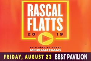 Cat Country 96 Welcomes Rascal Flatts to the BB&T Pavilion