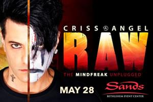 Cat Country 96 Welcomes Criss Angel to Sands Bethlehem Event Center