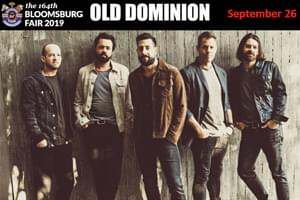 Cat Country 96 Welcomes Old Dominion to the Bloomsburg Fair