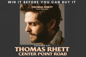 "Win Thomas Rhett's New Album ""Center Point Road"" Before it Goes On-Sale!"