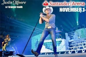 Justin Moore at Santander Arena November 1st