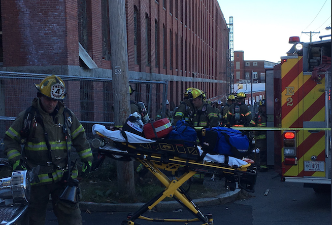 3 workers hurt, 1 critical, in Pawtucket mill building stair collapse