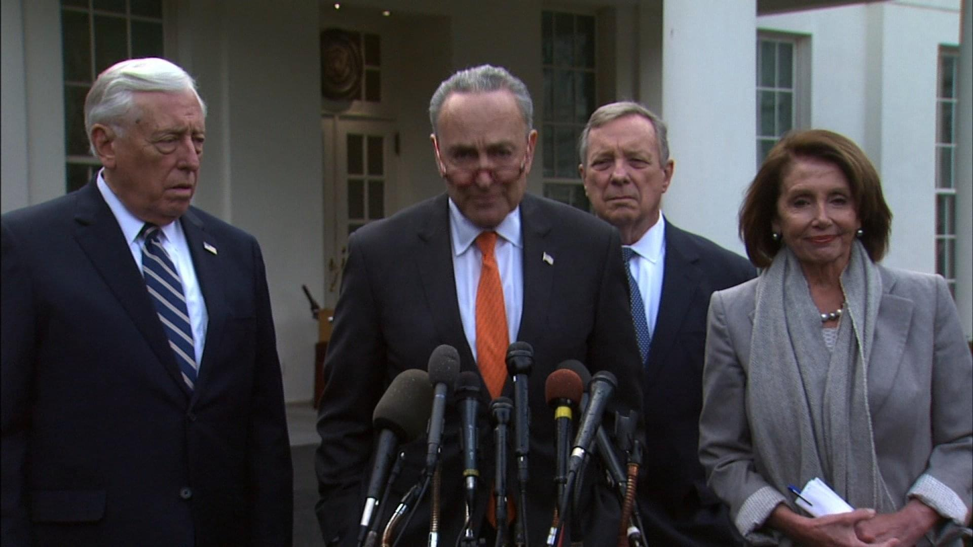 Trump walks out of shutdown meeting, calling talks 'total waste of time'