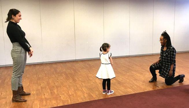 Little girls try out for role in touring musical