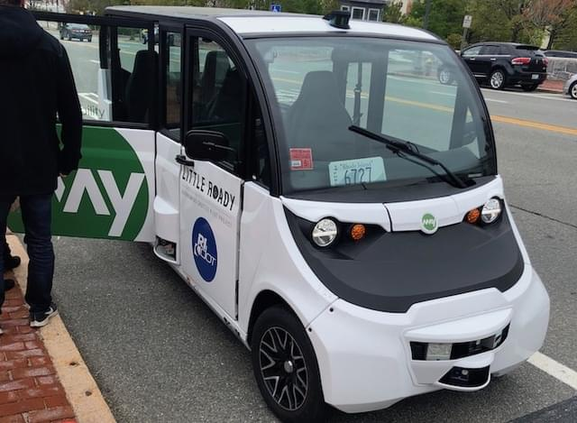 Politicians get first ride in autonomous vehicle shuttle