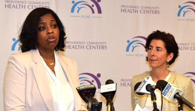 Raimondo introduces new HHS Secretary