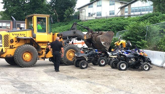 Providence destroys dirt bikes and ATVs