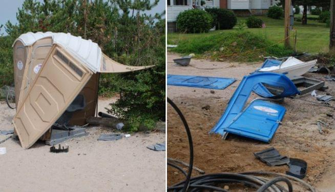 Explosives detonated in portable toilets in Rhode Island