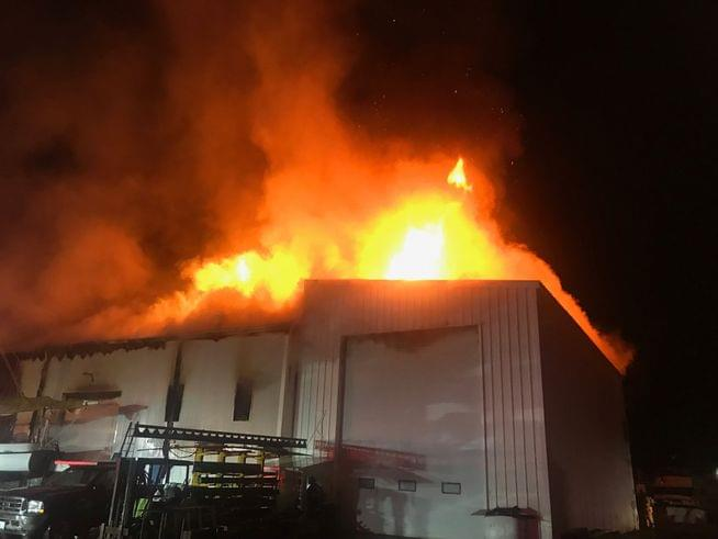 Large fire destroys Rhode Island commercial building