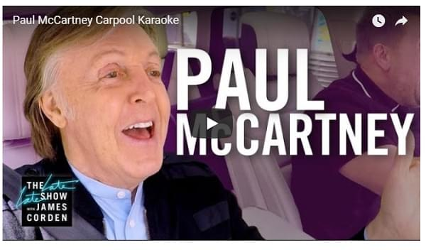 McCartney's Carpool Karaoke Episode to be Extended Into Hour-Long Special