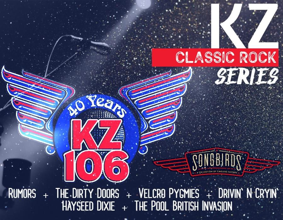 KZ106 Classic Rock Series at Songbirds