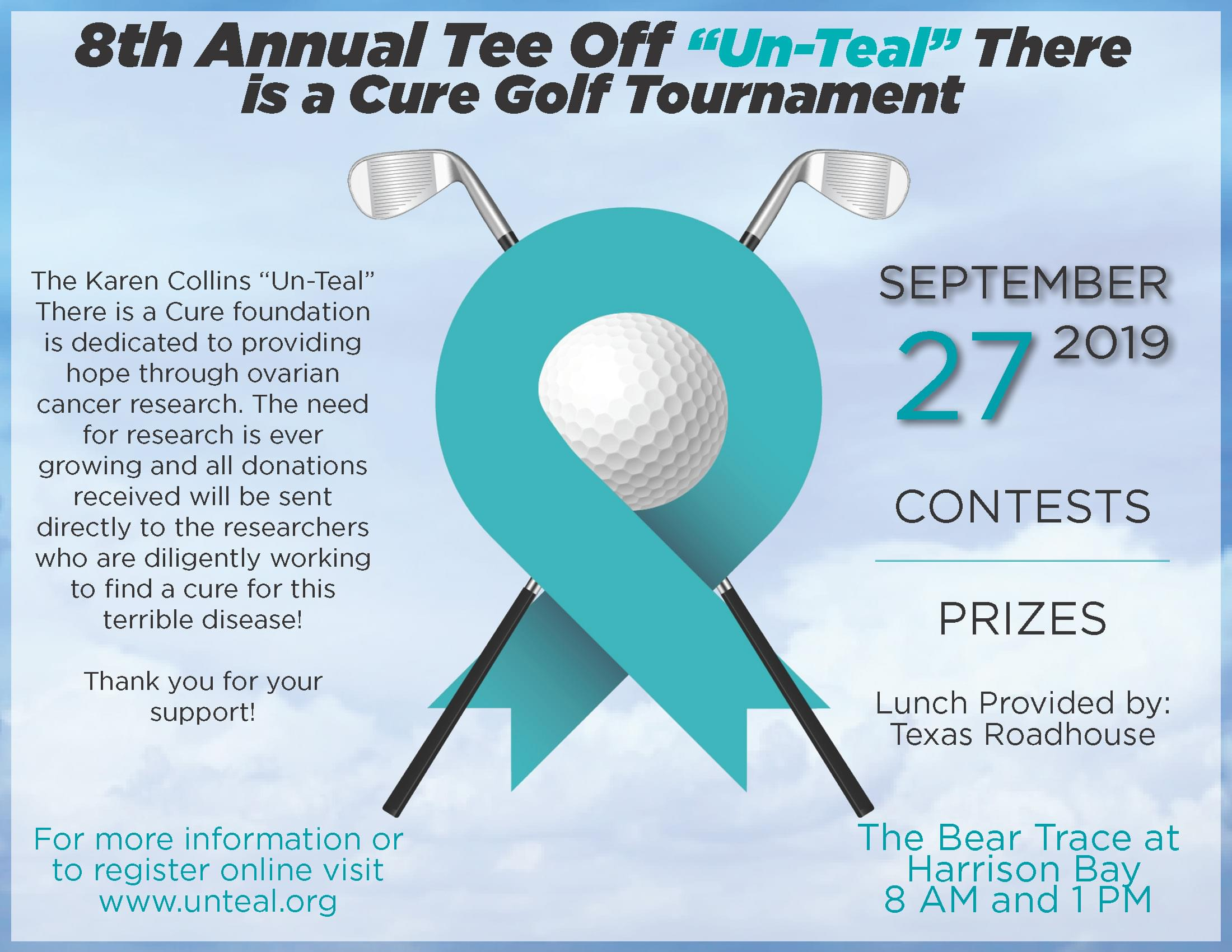 Tee Off Un-Teal There is a Cure Golf Tournament